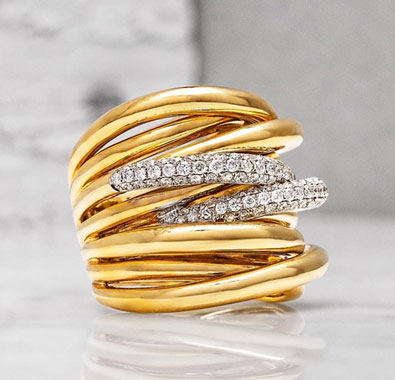 Shop Yellow Gold Diamond Ring At De Angelis Jewelers
