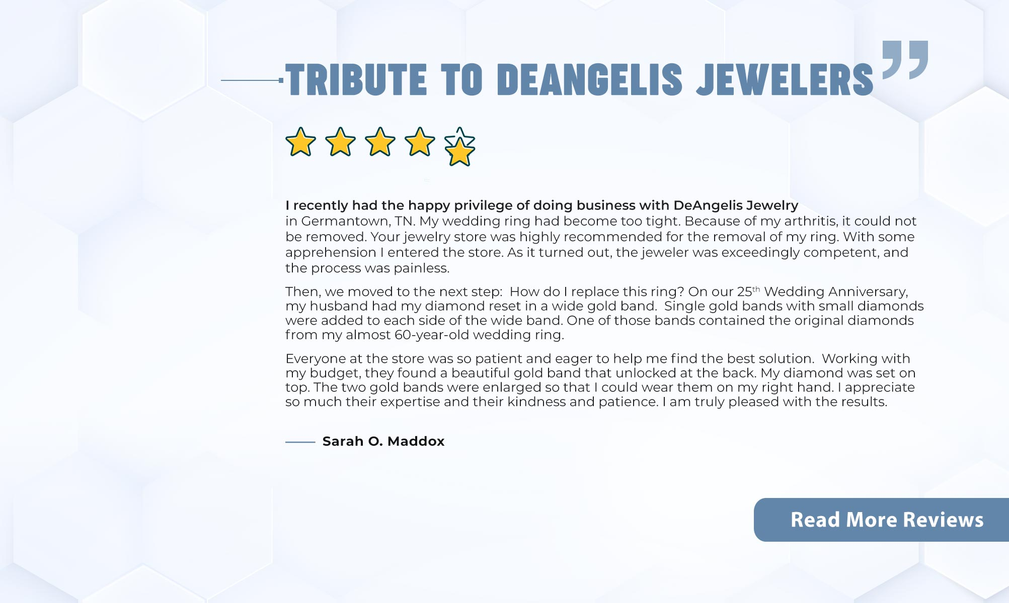 Checkout Testimonials Of Happy Customers Of DeAngelis Jewelers